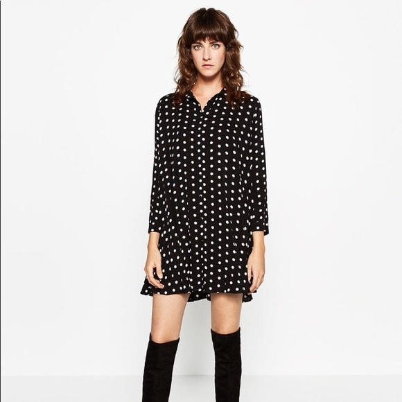 7efdd18b Zara polka dot dress. M_5a6661c39a9455f268363f77